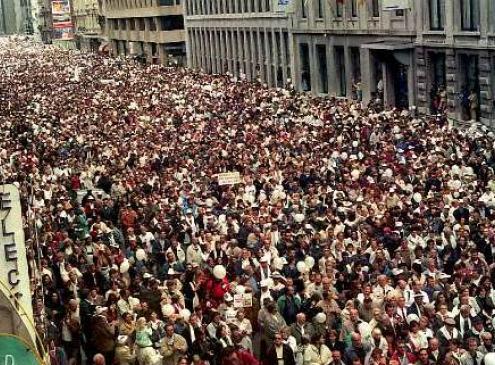 De witte mars, één van de grootste betogingen in België.