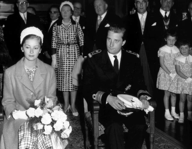 Prinses Paola en prins Albert in het stadhuis van Namen (1960).