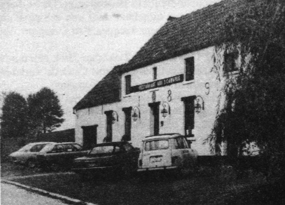 "Het restaurant ""Aux Trois Canards"" in Ohain."