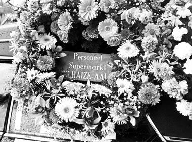 Een begrafenis van één van de slachtoffers van het bloedbad in Aalst.