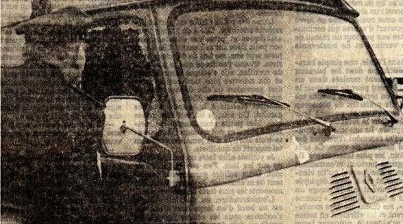 De bestelwagen van de familie Djuroski.
