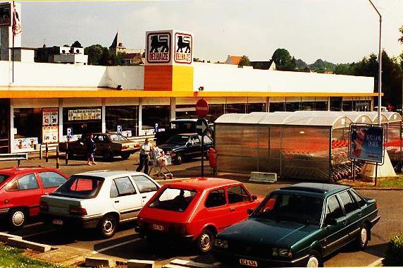 Het Delhaize-warenhuis van Genval.