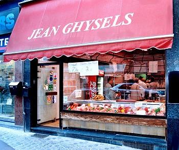 De Boucherie Ghysels, een drukbeklante slagerszaak in hartje Brussel.