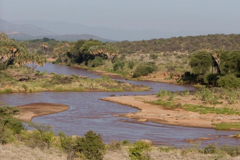 Het Shaba nationaal park.
