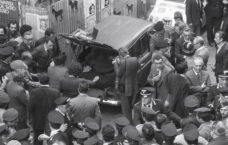 Het lichaam van Aldo Moro.