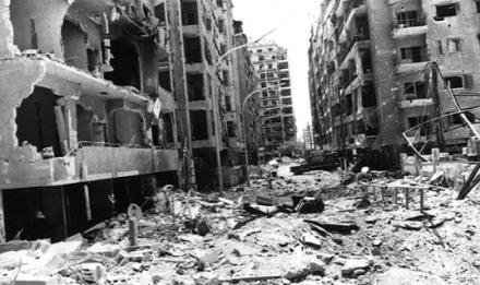 Beiroet tijdens de bloedige burgeroorlog.