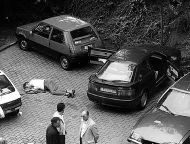 Het lichaam van André Cools.