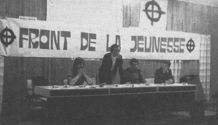 Een meeting van het Front de la Jeunesse.