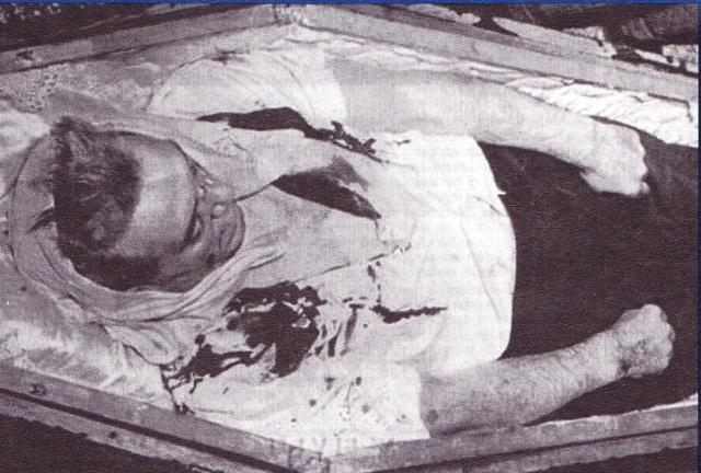 Het lichaam van Julien Lahaut.