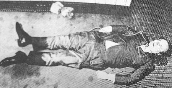 Het lichaam van Roberto Calvi.