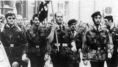 Bert Eriksson (rechts) en Luc Dieudonné (links) op een actie van de VMO in de jaren '70.